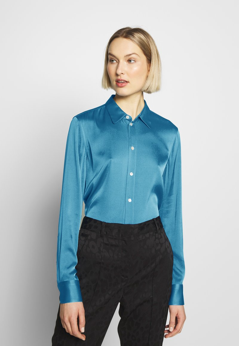 Strenesse - BLOUSE - Button-down blouse - blue