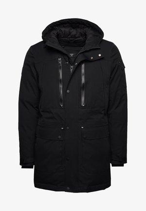 Winter coat - black marl