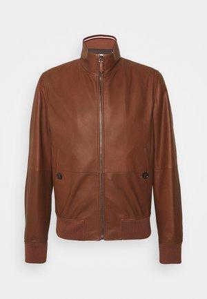 Kožená bunda - brown