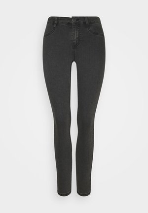 MID RISE - Skinny džíny - washed black