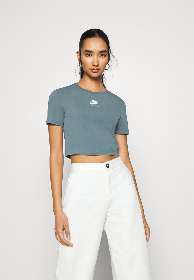 Nike Sportswear - AIR CROP - Camiseta estampada - ozone blue