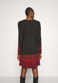 Desigual - NAGOYA - Day dress - anthrazite/dark red - 2