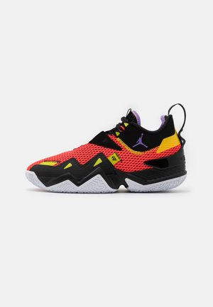 WESTBROOK ONE TAKE - Basketball shoes - bright crimson/atomic violet/black/amarillo/bright cactus/white