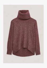Massimo Dutti - PULLOVER MIT WEITEM AUSSCHNITT - Sweatshirt - bordeaux - 3