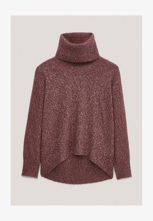PULLOVER MIT WEITEM AUSSCHNITT - Sweatshirt - bordeaux
