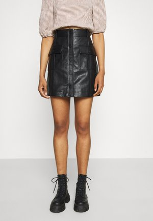 MEADOW SKIRT - Mini skirt - black