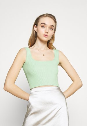 MAYA SQUARE NECK SKINNY CROP CAMI - Top - mint