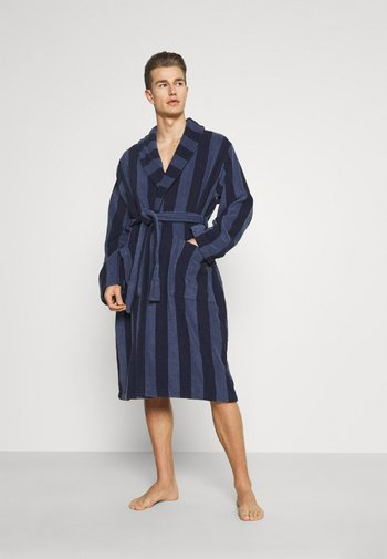 Dressing gown - dark blue/blue