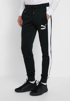 ICONIC TRACK PANT CUFF - Tracksuit bottoms - black