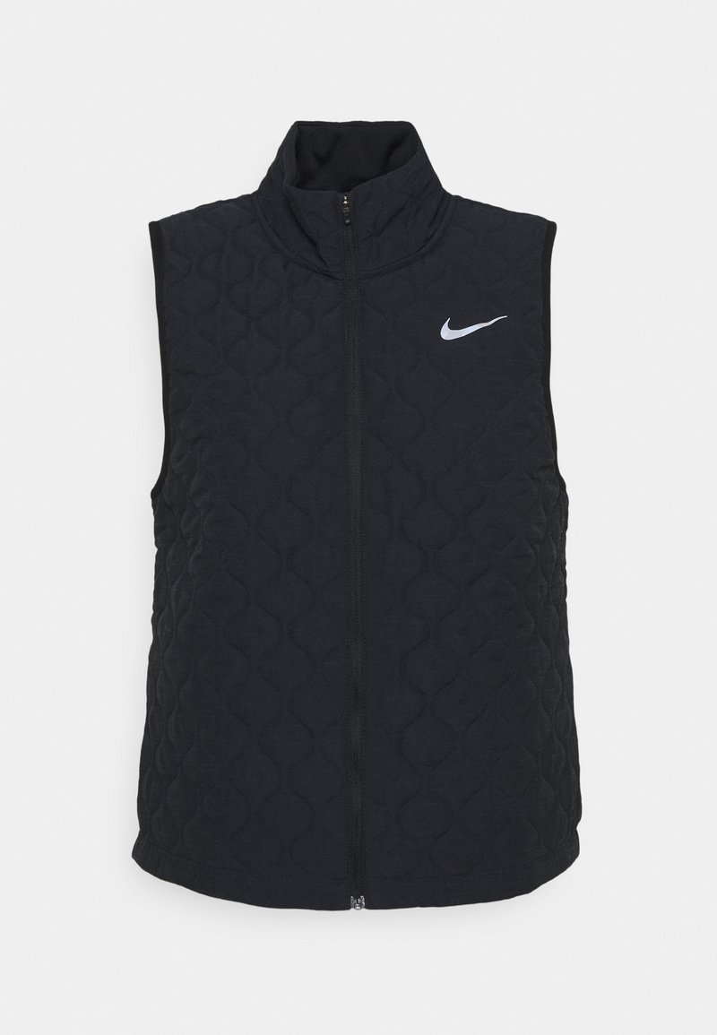 Nike Performance - AEROLAYER VEST - Waistcoat - black/reflective silver