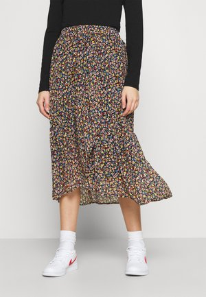 PCMACYA SKIRT - Áčková sukně - black/misty rose