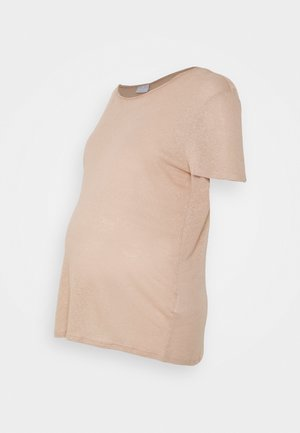 PCMSORAYA TEE - Basic T-shirt - natural