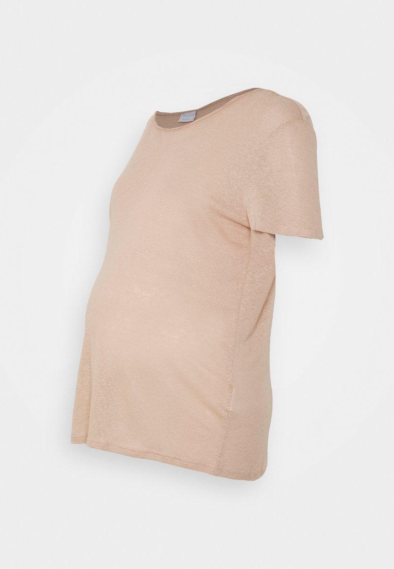 Pieces Maternity - PCMSORAYA TEE - Basic T-shirt - natural