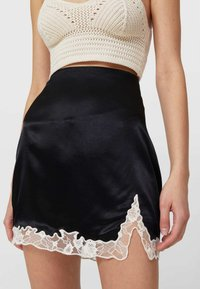 Stradivarius - A-line skirt - black - 3