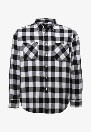 CHECKED - Camisa - black/white