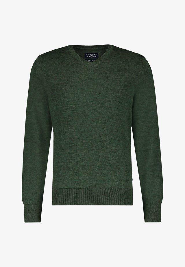 Jumper - dark-green plain