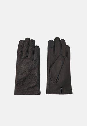 MONOGRAM GLOVES - Gloves - black