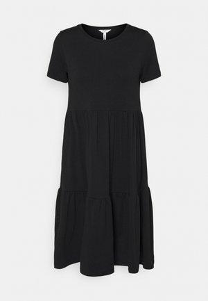 OBJSTEPHANIE DRESS  - Jersey dress - black