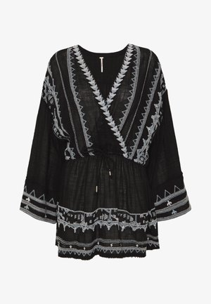 SAFFRON EMBROIDERED TUNIC - Tunica - black