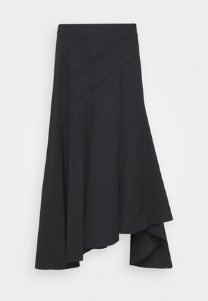 ASYMMETRICAL HEM SKIRT - A-lijn rok - black