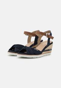 TOM TAILOR - Platform sandals - navy - 2