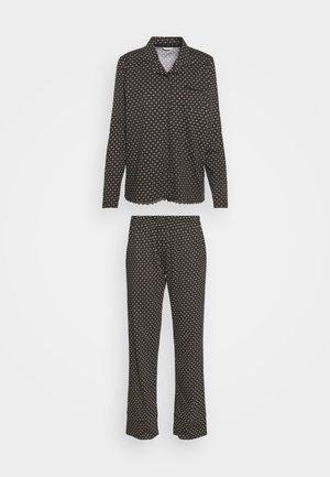 GLENICE LONGSLEEVE LONG PANTS - Pyjamas - black
