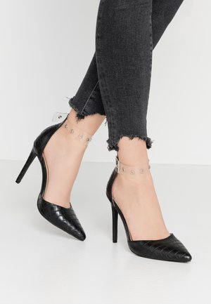 YASMINE - High heels - clear/black