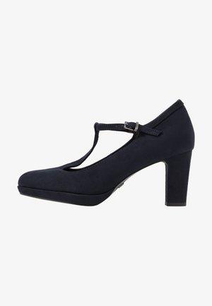 WOMS SLIP-ON - Platform heels - navy