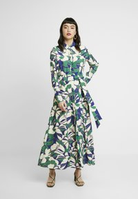 IVY & OAK - SHIRT DRESS MIDI - Maxi dress - green flower - 0