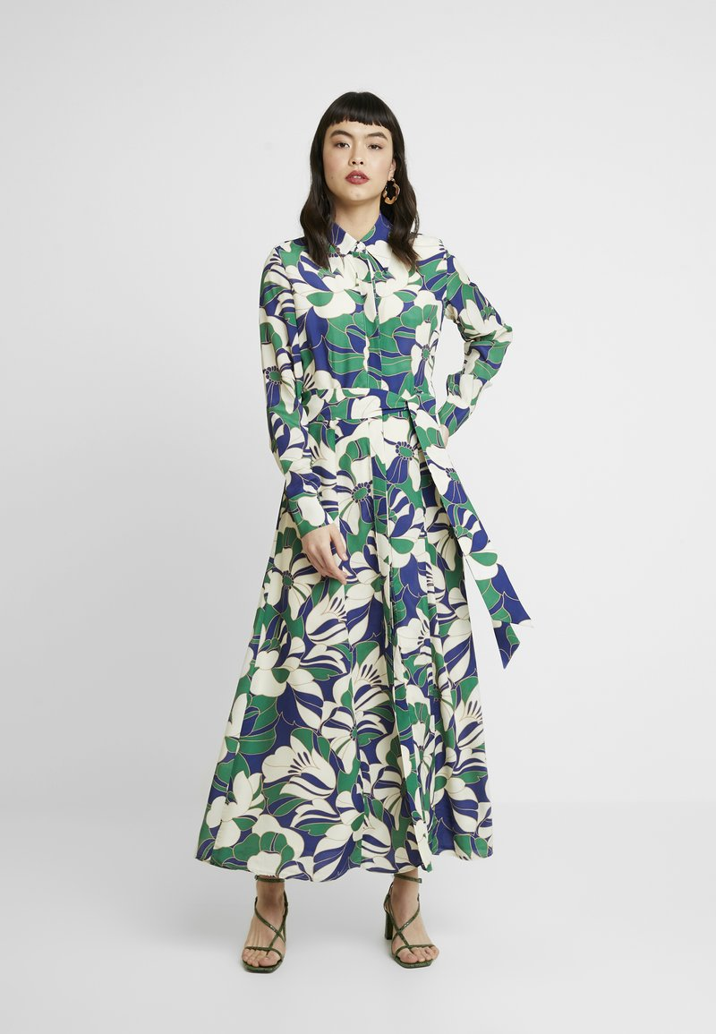 IVY & OAK - SHIRT DRESS MIDI - Maxi dress - green flower