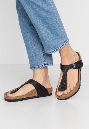 GIZEH - T-bar sandals - black