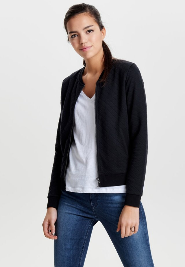 ONLJOYCE - veste en sweat zippée - black