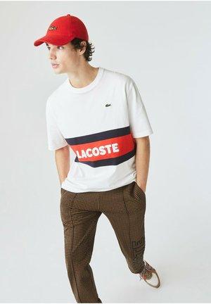 Print T-shirt - weiß / navy blau / rot
