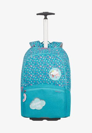 Wheeled suitcase - dreamy dots