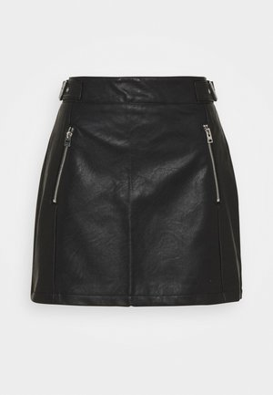 BUCKLE SKIRT - A-line skirt - black