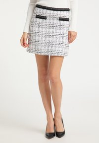 faina - TWEED - A-line skirt - weiß - 0