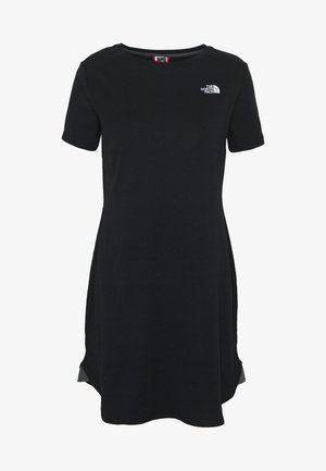 WOMENS SIMPLE DOME TEE DRESS - Trikoomekko - black