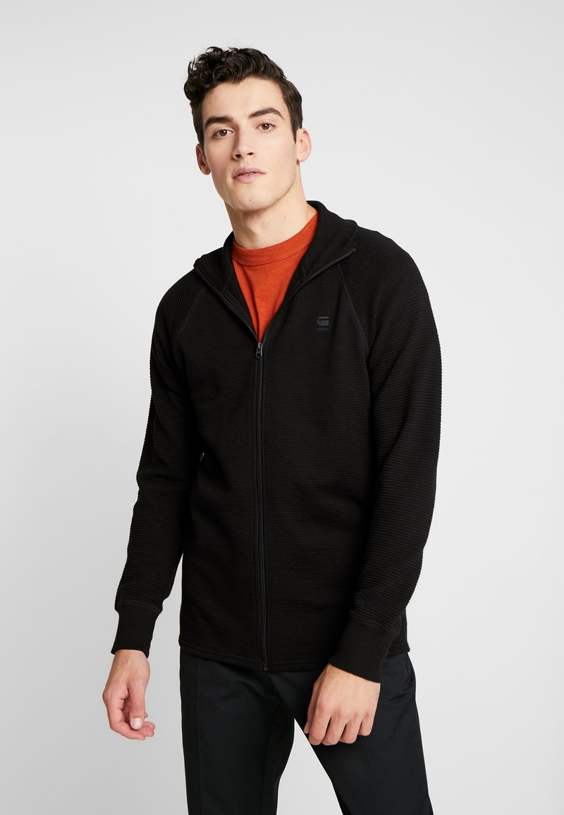 G-Star - JIRGI ZIP - Bluza rozpinana - dark black