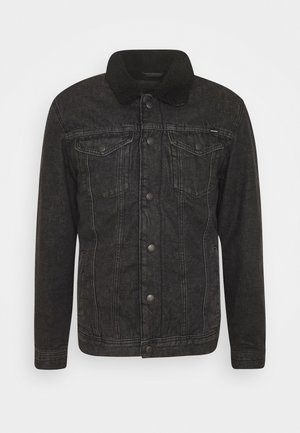 JJIJEAN JJJACKET - Džínová bunda - black denim