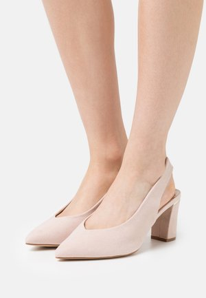 WIDE FIT EMILY BLOCK HEEL SLINGBACK COURT - Avokkaat - blush