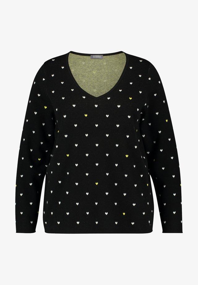 Sweater - black gemustert