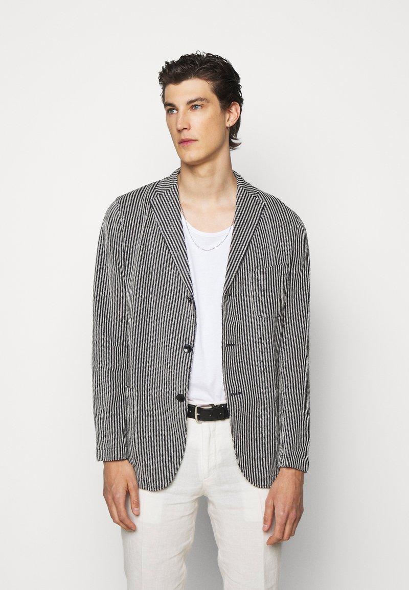 Boglioli - Blazer jacket - dark blue/white