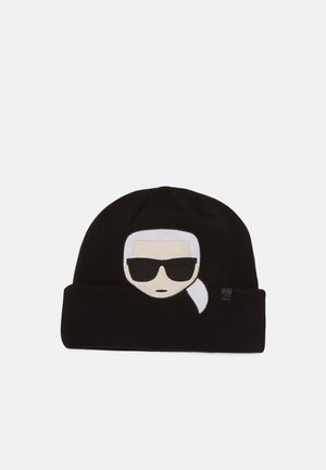 IKONIK EMBROIDERY BEANIE - Mütze - black