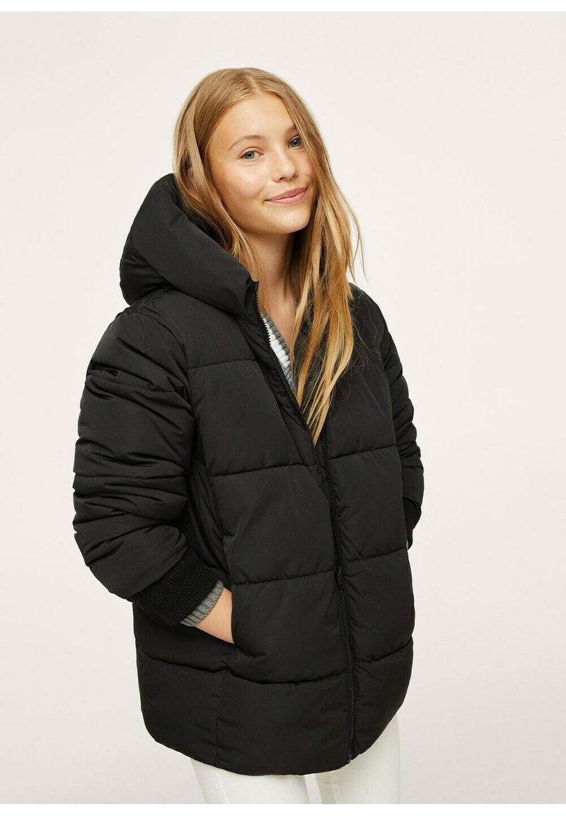 Mango - STEPP-ANORAK MIT KAPUZE - Winter coat - schwarz