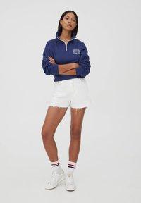 PULL&BEAR - Sweatshirt - mottled dark blue - 1