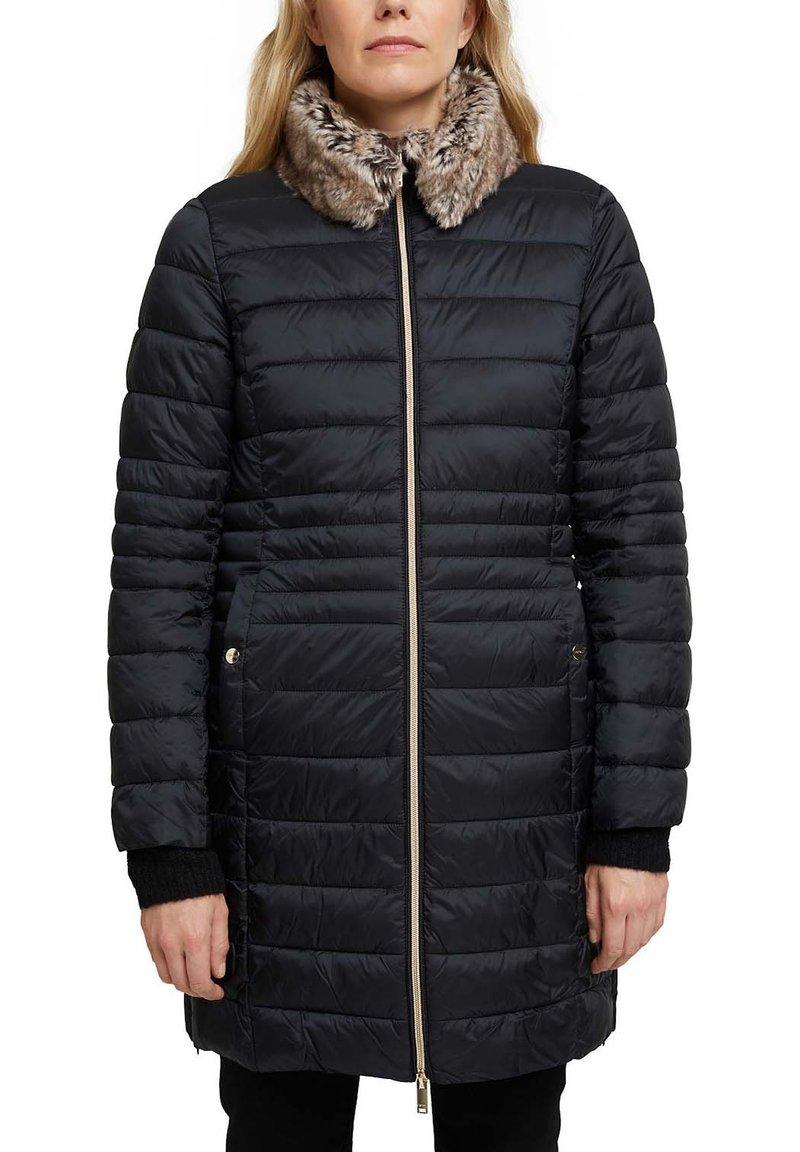 Esprit Collection 3M THINS - Wintermantel - black/schwarz 8Kgda7