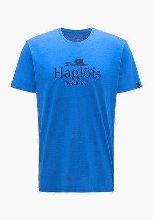 CAMP TEE  - Print T-shirt - storm blue/tarn blue