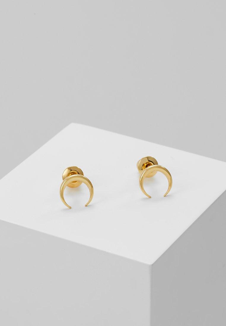 Orelia - MINI CRESCENT STUDS - Earrings - pale gold-coloured