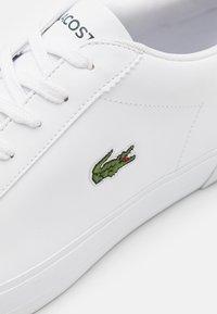 Lacoste - LEROND - Trainers - white/dark green - 5