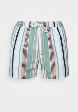 STRIPE - Swimming shorts - white